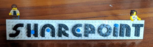SharePoint Lego nameplate