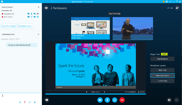 Skype for Business Broadcast Producer